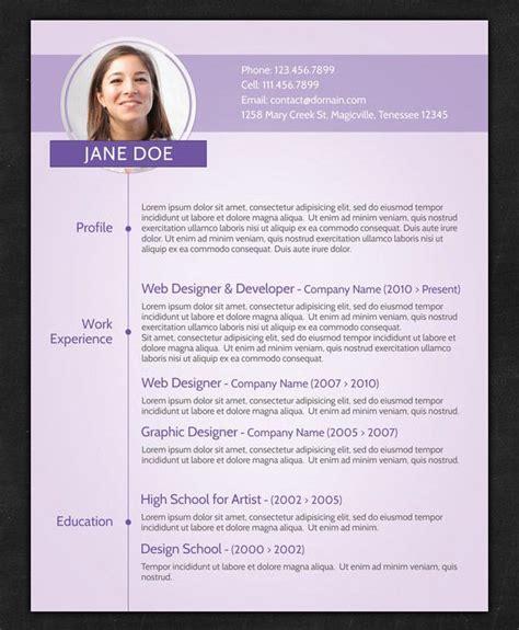 21 Stunning Creative Resume Templates | unique resume sles 21 stunning creative resume