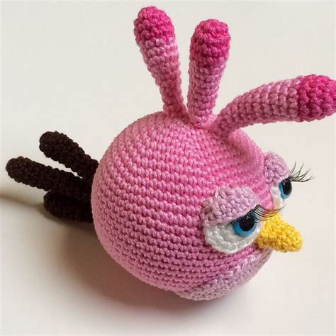 free pattern amigurumi angry birds ravelry stella the angry bird pattern by mandy br 252 ning