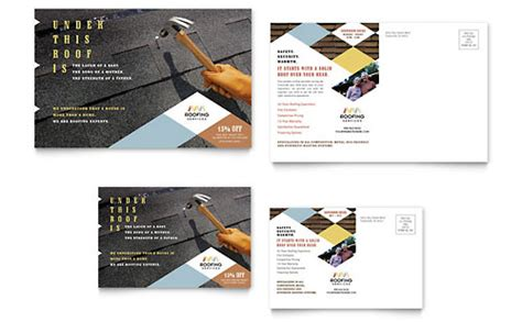 construction business card template word roofing contractor business card letterhead template