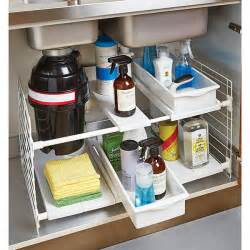 color kitchen sink corner storage rack expandable undersink organizer the container store
