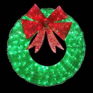 wreaths lighted home accents 36 in led green sparkling tinsel