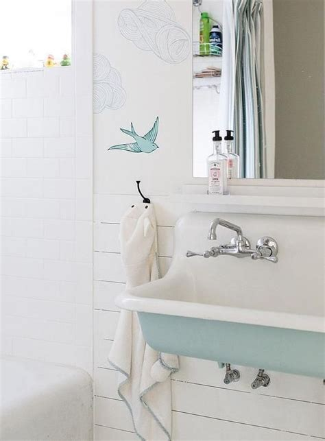 Bathroom Wallpaper Turquoise Turquoise Blue Bathroom Features Walls Clad In Hygge