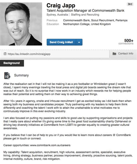 linkedin strategy template linkedin profile summary template templates collections