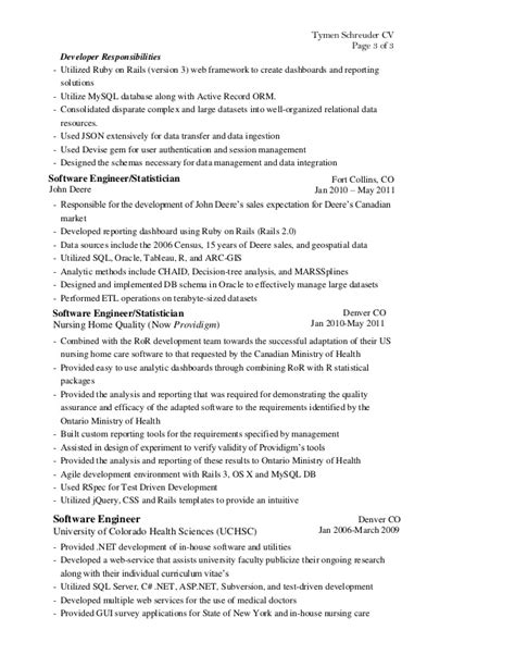 ruby developer resume resume ideas