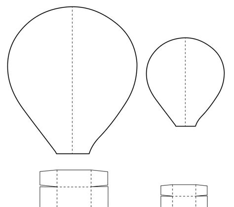 air balloon pattern hot air balloon templates kids coloring europe travel
