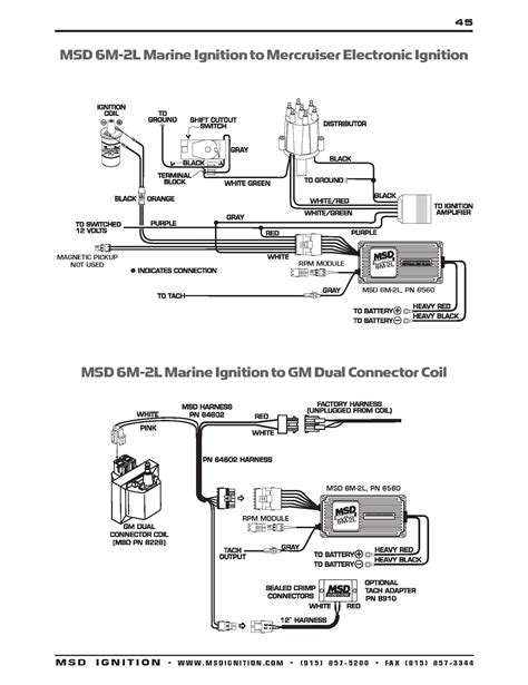 msd ready to run distributor wiring diagram msd 8360