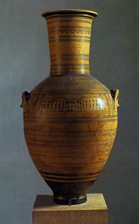 Funerary Vase by Development Of Geometric Vase Painting
