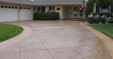 Amazing Garage Floor Edging #3: Stamped-concrete-driveway-d-e-contreras-construction_61246.jpg