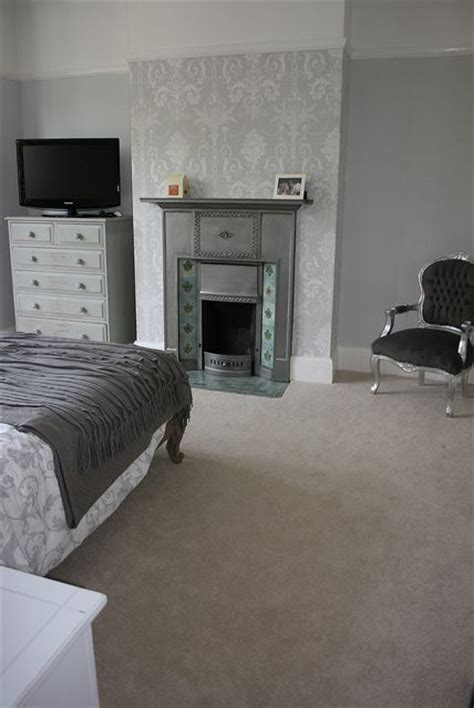 grey wallpaper laura ashley our grey bedroom painted in farrow ball quot blackened