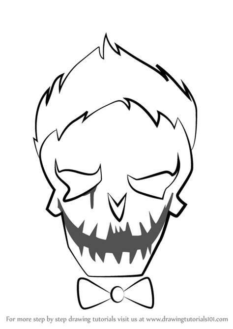 joker coloring pages easy easy draw joker suicide squad sketch coloring page
