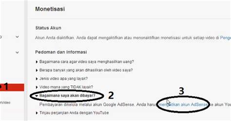 adsense youtube dan blog cara mengaitkan youtube dan google adsense pelangi blog