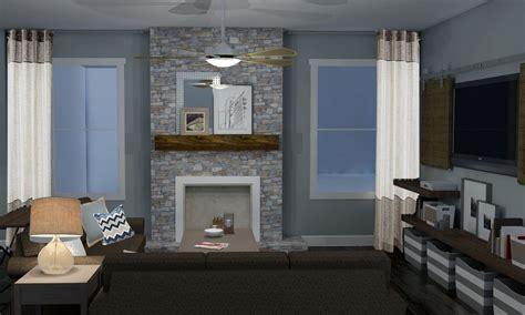 modern rustic living room design