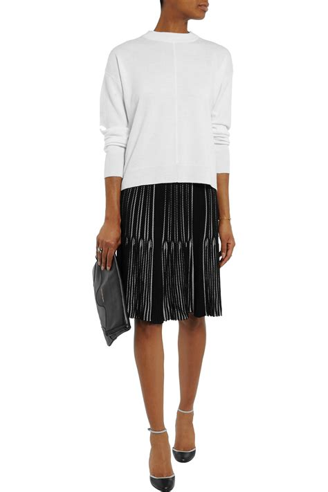 knit skirt lyst rykiel pliss 233 stretch knit skirt in black