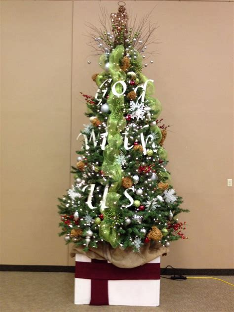 diy church christmas tree church pinterest
