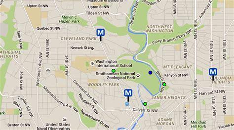 national zoo map national zoo maps and directions washington dc