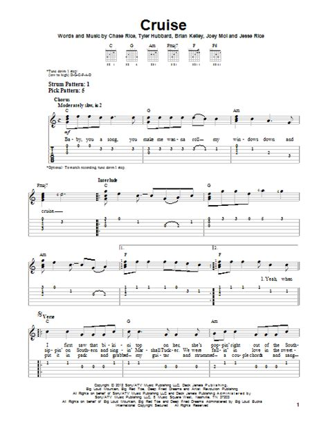 cruise florida georgia line mp lyrics cruise sheet music direct