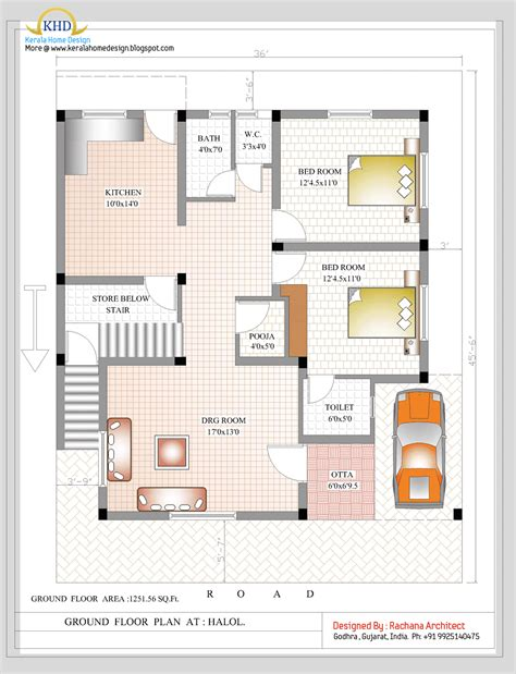 Duplex Floor Plans Duplex House Plan And Elevation 2349 Sq Ft Indian