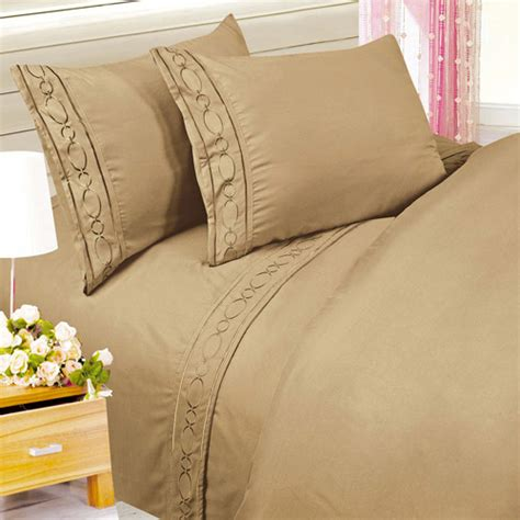 walmart bed sheet set at home embroidered chain microfiber bedding sheet set