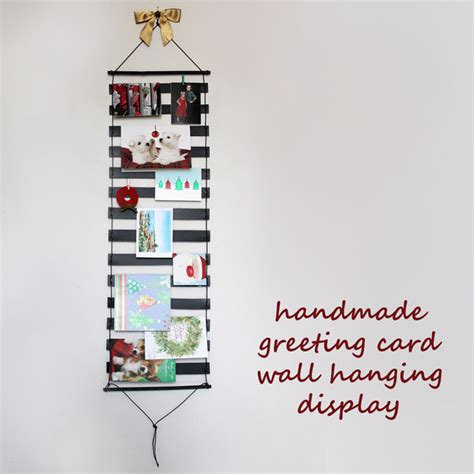how to display cards how to make a greeting card wall hanging display loulou