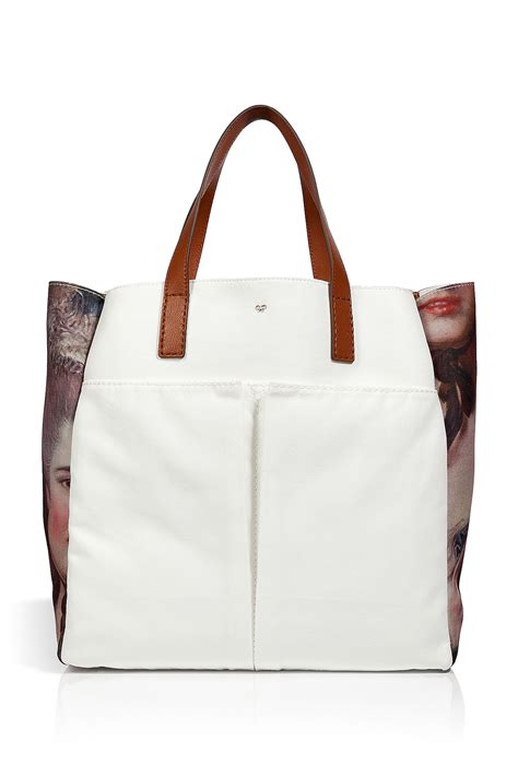 Anya Hindmarch Large Nevis Tote by Anya Hindmarch Whitemulti Canvas Nevis Tote In Beige