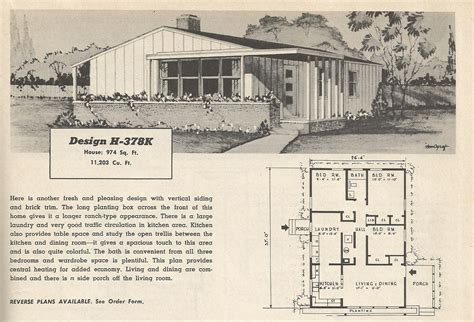 1950s bungalow floor plan vintage house plans 378 antique alter ego