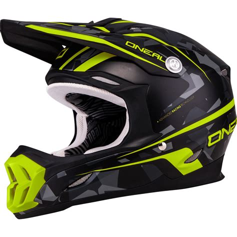 camo motocross helmet oneal 7 series camo yellow grey motocross helmet acu