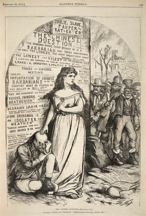 political cartoons on immigration illustrating chinese exclusion thomas nast s cartoons of
