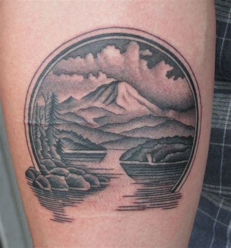pacific northwest tattoo by graham seattle rainier