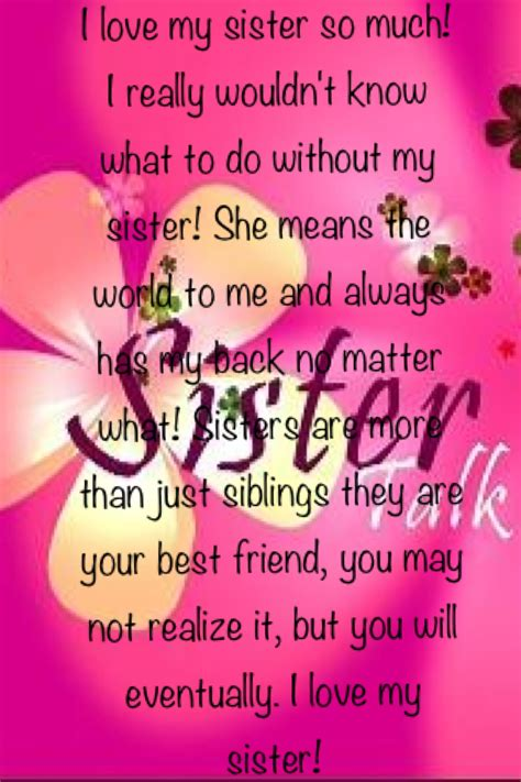 images of love you sister i love my sister quotes for facebook quotesgram