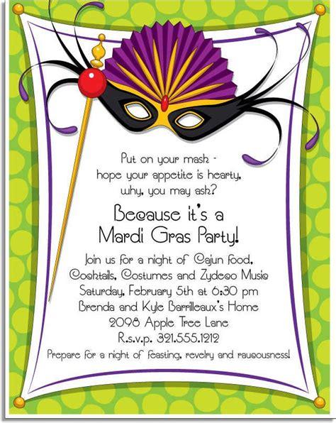 Mardi Gras Card Template by Mardi Gras Invitation Wording Mardi Gras Stationery