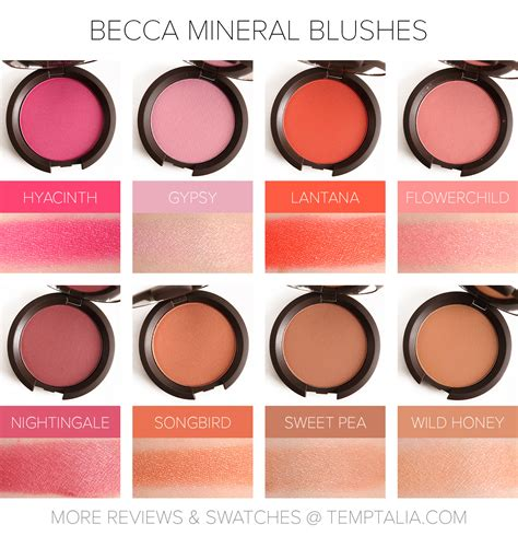 sneak peek becca mineral blushes photos swatches