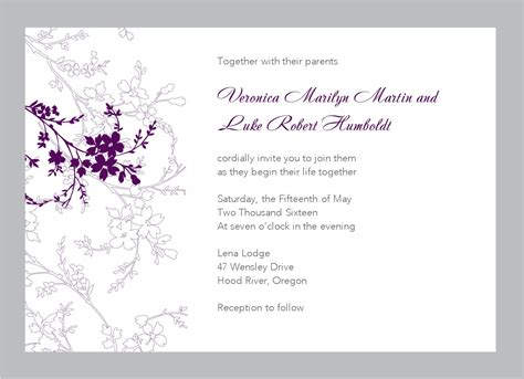 e wedding invitation cards templates free 6 best images of printable wedding invitation templates