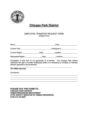 employee transfer form employee transfer request fill printable
