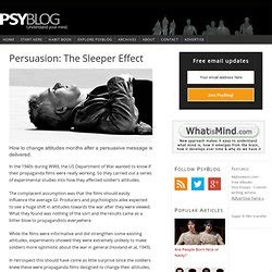 Sleeper Effect Persuasion by Manipulation And Persuasion Pearltrees