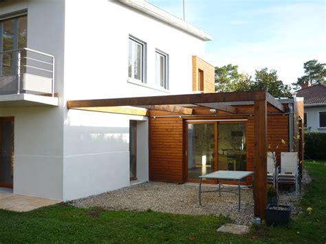 Agrandissement Cuisine Sur Terrasse by Extension Bois D Une Maison 224 Chagne Au Mont D Or
