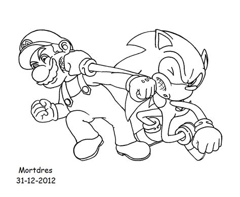 Mario And Sonic Coloring Pages sonic and mario pictures az coloring pages