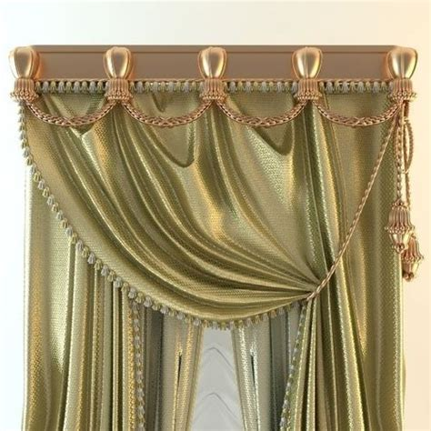baroque curtains elegant baroque curtains 3d model max 3ds fbx cgtrader com