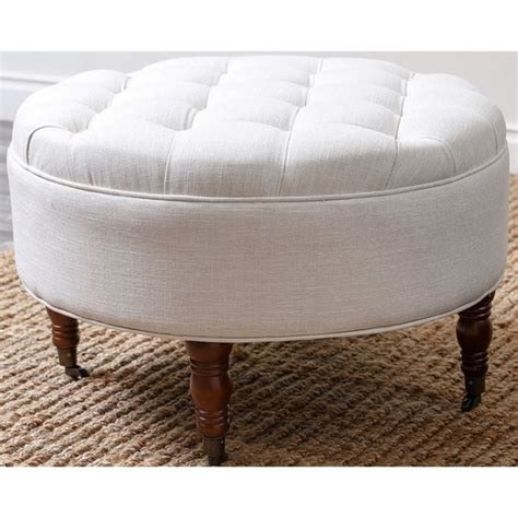 White Tufted Ottoman Abbyson Living Clendon Tufted Ottoman In White Hs Ot 1060 Wht