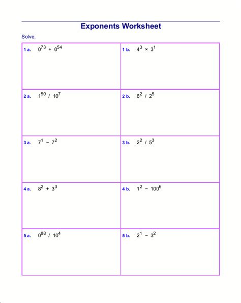 free printable worksheets multiplying exponents exponents worksheet abitlikethis