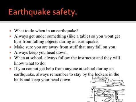 earthquake hazards ppt earthquake safety ppt nuclear fallout shelter plans csao