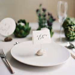 favors as place cards the knot