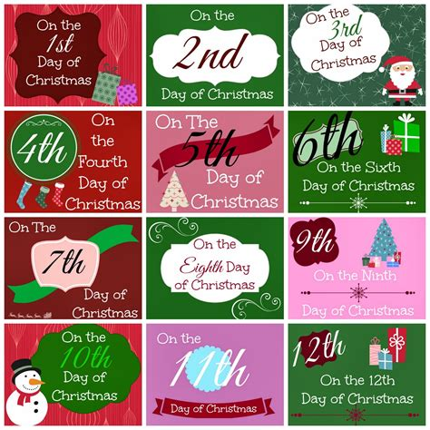 12 days of christmas gift tags 12 days of printable tags busy helper