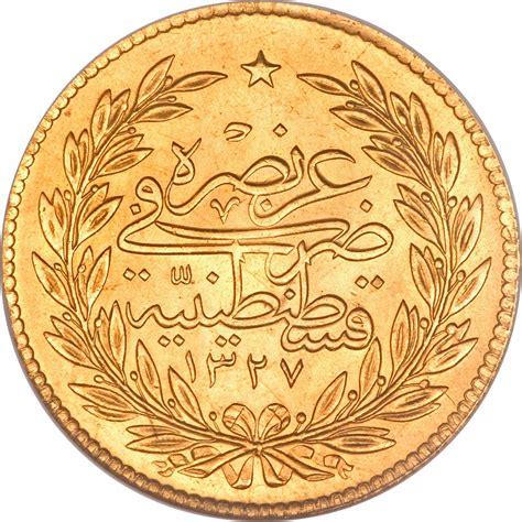 ottoman gold coins 500 kurus mehmed v ottoman empire numista