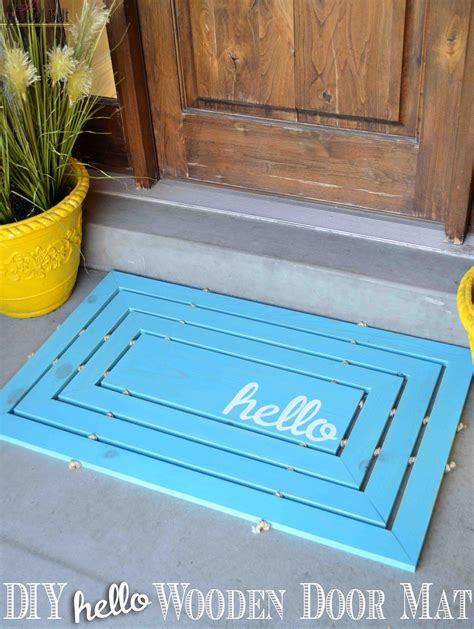 diy mat wooden door mat tool belt