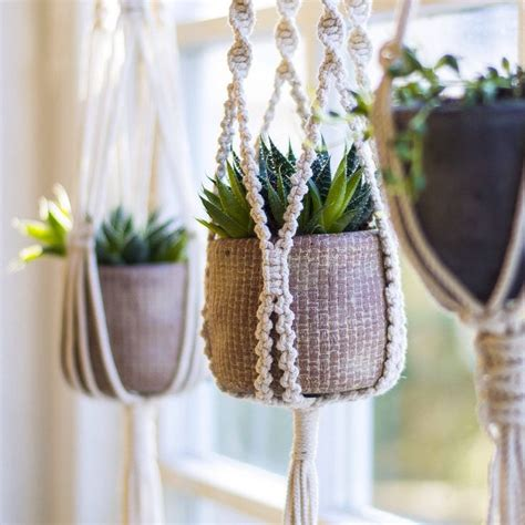 Diy Hanging Plant Holder - 25 best ideas about macrame plant holder on