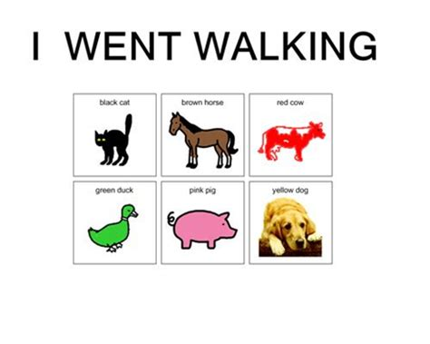printable animal walk cards play ideas animal cards for the book i went walking