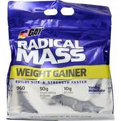 Hybrid Mass Gainer 10lbs Choco Malt Cappucino gat radical mass weight gainer on sale at allstarhealth
