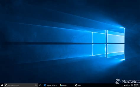 wallpaper blank windows 7 the quot new quot design feature of windows 10 10159 pc preview
