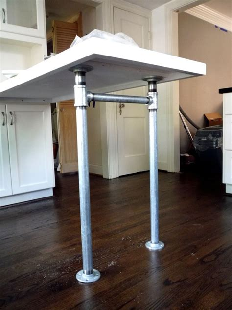 peninsula countertop galvanized plumbing pipe parts legs feet build shop pinterest coats pipe