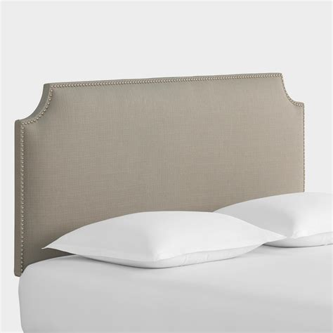 World Market Headboard by Textured Woven Caiden Upholstered Headboard World Market